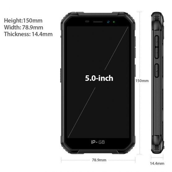 3G Global Version Ulefone Armor X6 Android 9 Smartphone 2GB 16GB IP68 Waterproof MT6580 Octa Core Face Unlock 4000mAh Phone