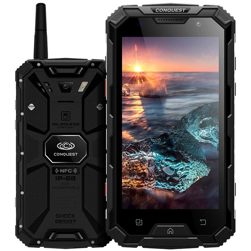 """Conquest S8 Smartphone Waterproof 5.0"""" IPS Android 7.0 MTK6753 Octa Core 3GB RAM 32GB ROM 4G 16MP 6000mAh Walkie talkie OTG NFC"""