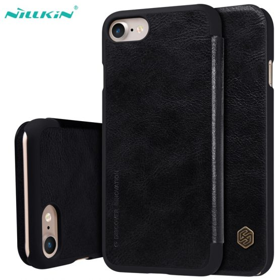 For iPhone SE 2020 Flip Case Cover Nillkin Qin Vintage Leather Card Pocket Wallet Cases Flip Cover For iPhone SE 2020 Phone Bags