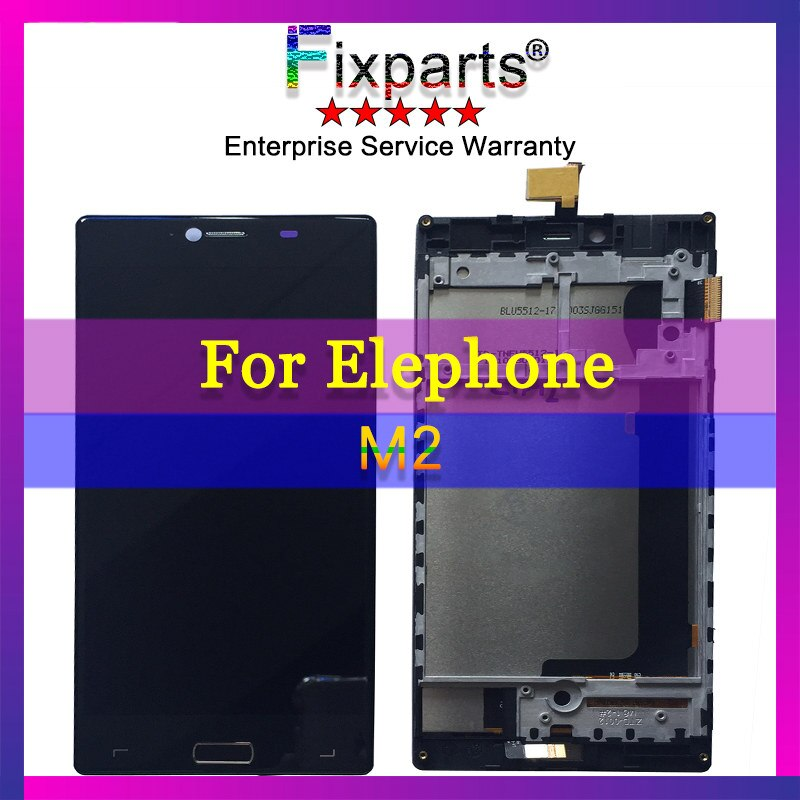Elephone M2 LCD Screen 100% Tested LCD Display +Touch Screen Digitizer with Frame Replacement For Elephone M2 Smartphone