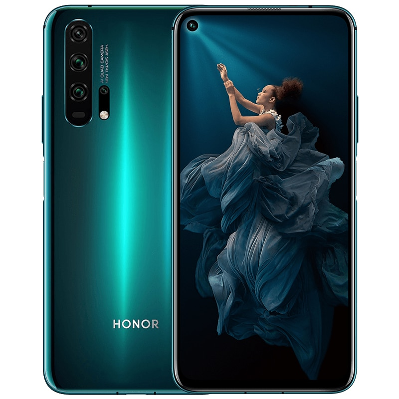 """Huawei Honor 20 Pro Mobile Phone Smartphone Cell Phone AI Quad Camera 6.26"""" FullView Display 4000mAh All-day Battery Dual SIM"""