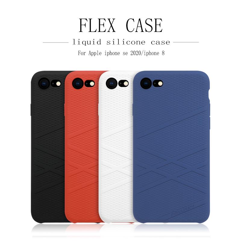 For iphone 8 Flex Case iphone se 2020 case For iphone x/xs NILLKIN FLEX Liquid Silicone Case Soft Back cover case bag bumper
