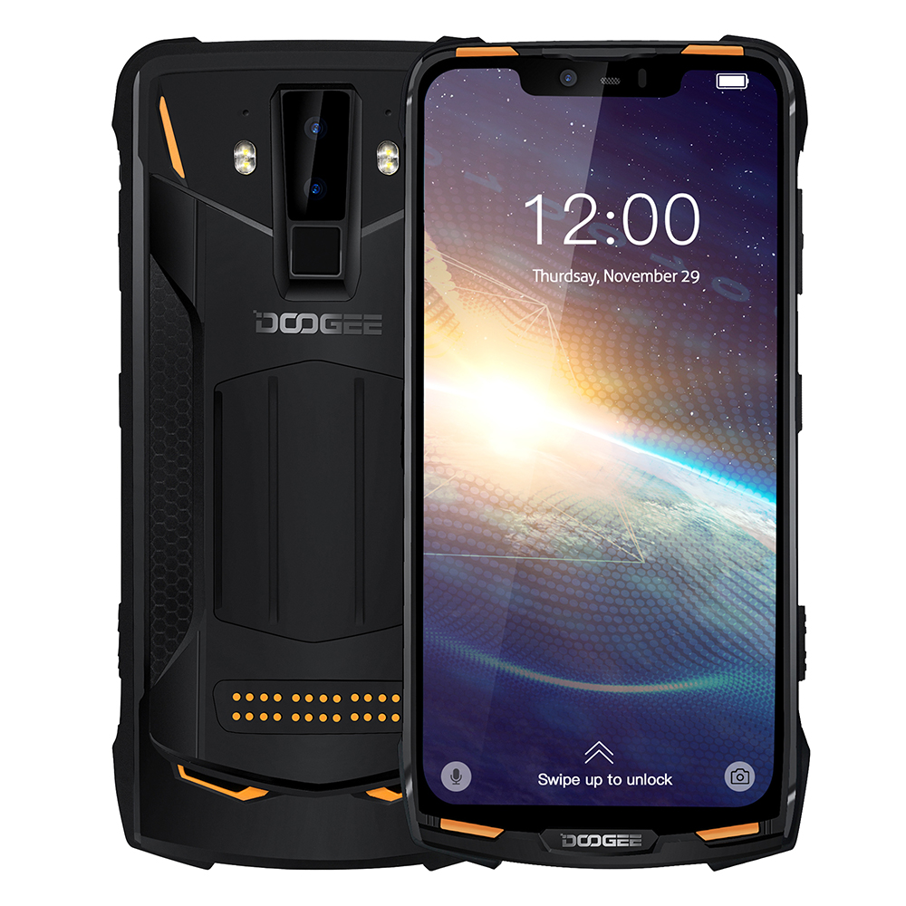 DOOGEE New S90 Pro IP68/IP69K Rugged Mobile Phone Android 9.0 Smartphone 6.18'' FHD+ Display Helio P70 Octa Core 6GB 128GB 16MP