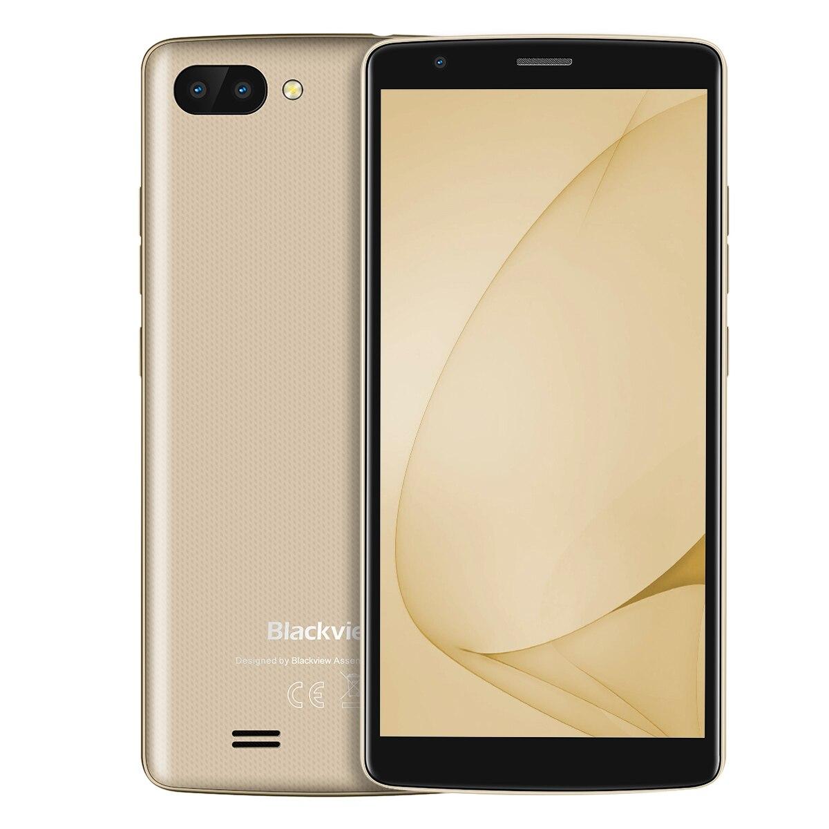 "Blackview Original A20 Smartphone 5.5"" 1GB + 8GB 2800MAH Quad-Core Android GO 18:9 Screen 3G Dual SIM Fashion Slim Mobile Phone"