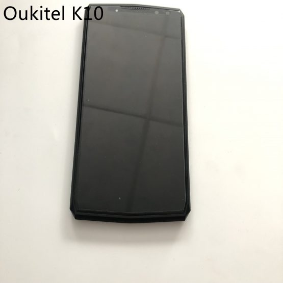 Used LCD Display Screen + Touch Screen + Frame For Oukitel K10 MTK6763 Octa Core 6.0 inch 2160x1080 Smartphone