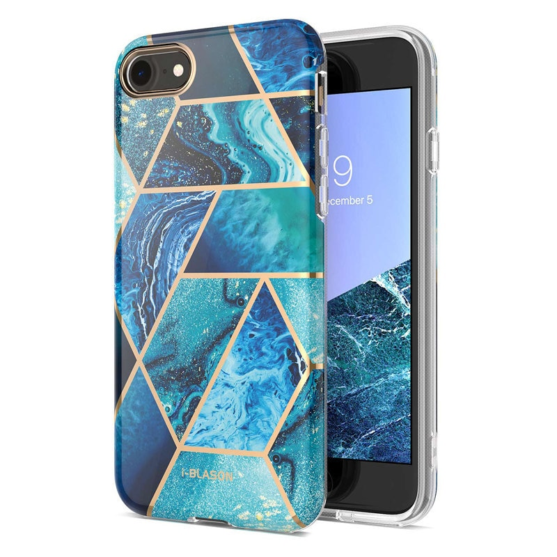 I-BLASON For iphone 7 8 Case For iPhone SE 2020 Case Cosmo Lite Stylish Hybrid Premium Protective Slim Bumper Marble Back Cover