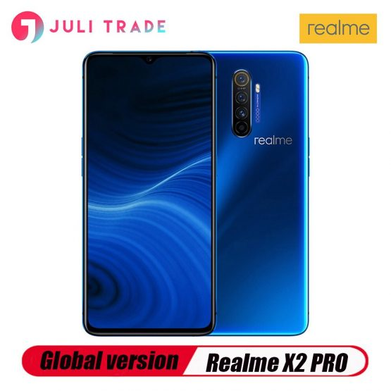 "Global version OPPO realme X2 Pro 6.5"" NFC Snapdragon 855 Plus 64MP Quad Camera Smartphone Cellphone 50W Super VOOC Fast charger"