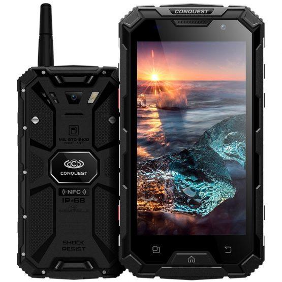 """Conquest S8 Plus Smartphone 5.0"""" IPS Screen Android 6.0 MTK6755 Octa Core 4GB RAM 64GB ROM 4G 16MP 6000mAh Walkie talkie OTG NFC"""