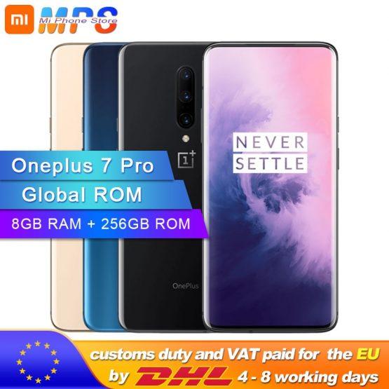 Global ROM Oneplus 7 Pro 8GB RAM 256GB ROM Smartphone Snapdragon 855 6.67 Inch 90 Hz AMOLED Display Fingerprint ID 48MP Camera