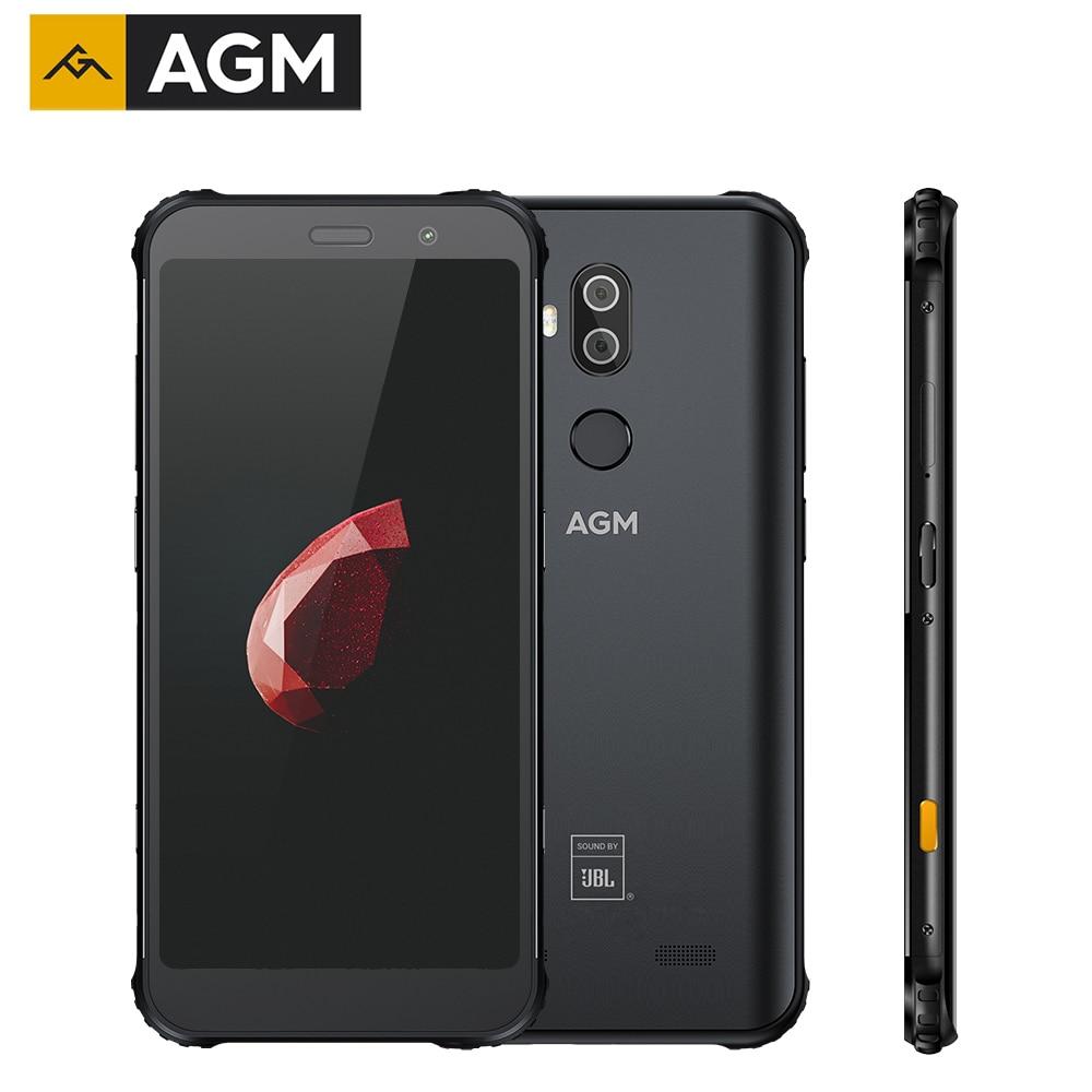 Original AGM X3 NFC 4G Smartphone 8G 128G SDM845 Android 8.1 5.99inch Cellphones IP68 Waterproof Mobile Phone Dual BOX Speaker