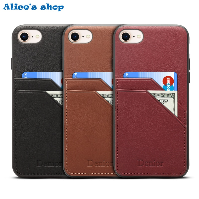 Luxury Genuine Leather & TPU Silicone Shockproof Case For Apple iPhone SE 2020 Full Protection Back Card Holder Phone Cover Case