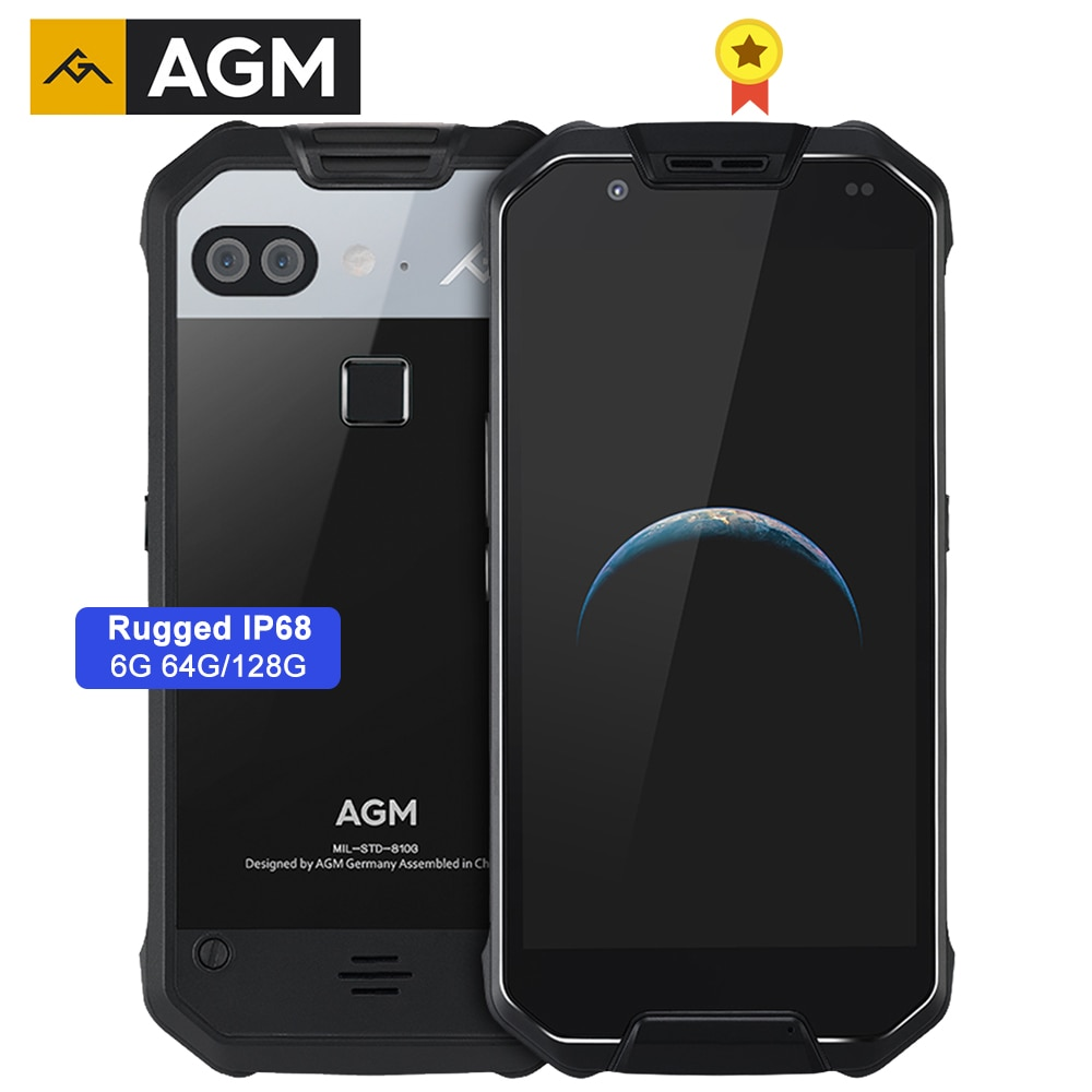 "AGM X2 Rugged IP68 Waterproof Smartphone 6000mAh Quick Charge 6G+64G/128GB Mobile Phone 5.5"" Octa Core 16.0MP Camera NFC VOC"
