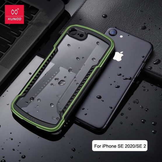 For iPhone SE 2020 Case XUNDD Luxury Stronger Drop-proof Armor Back Transparent Protective Case for iPhone SE2 SE 2 Case 4.7
