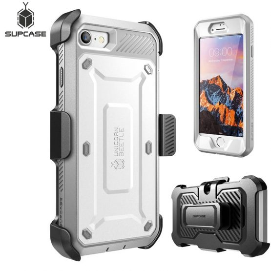 SUPCASE For iphone 7 Case For iPhone SE 2020 Case UB Pro Full-Body Rugged Holster Protective Case WITH Built-in Screen Protector