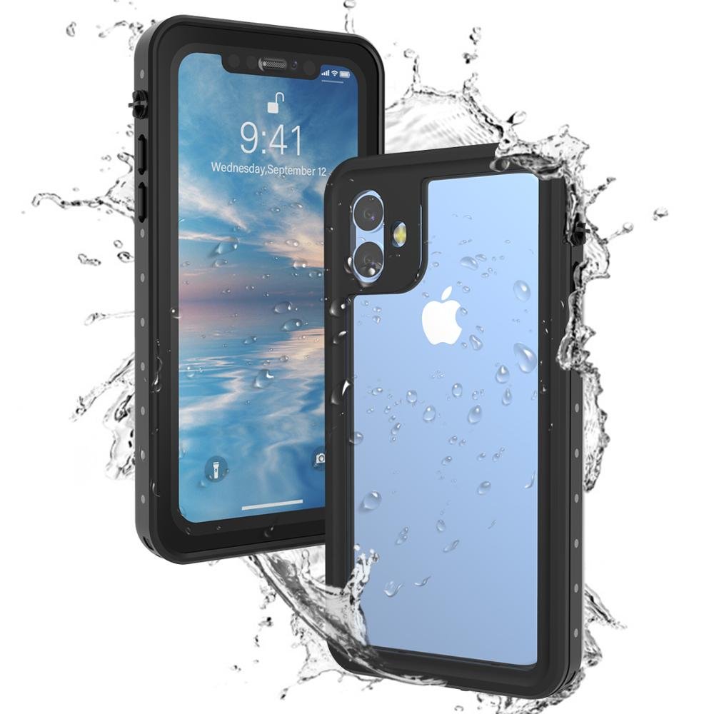 For iPhone SE 4.7 2020 11 pro Max Case Waterproof 360 Degree Shockproof Cover for iPhone X XR XS Max 7 8 plus Case Underwater