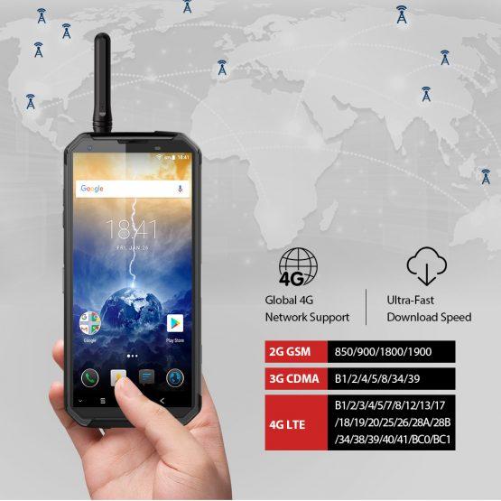 Blackview BV9500 Pro IP68/IP69K Rugged Phone 6GB 128GB 10000mAh QC 16.0MP Camera Octa Core 18:9 NFC Walkie Talkie Smartphone