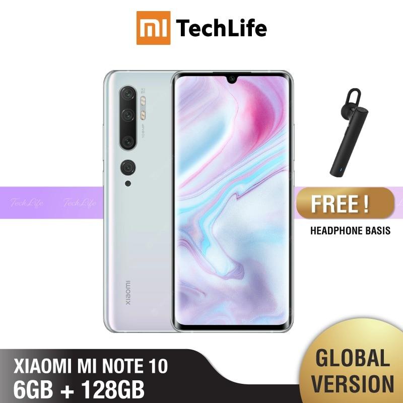 Global Version Xiaomi Mi Note 10 128GB ROM 6GB RAM (Brand New / Sealed) note 10, note10 Smartphone Mobile
