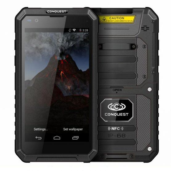 "Conquest S10 IP68 Waterproof Smartphone 5.5"" IPS Android 7.0 MTK6753 Octa Core 3GB RAM 32GB ROM 4G 5000mAh OTG NFC Shockproof"