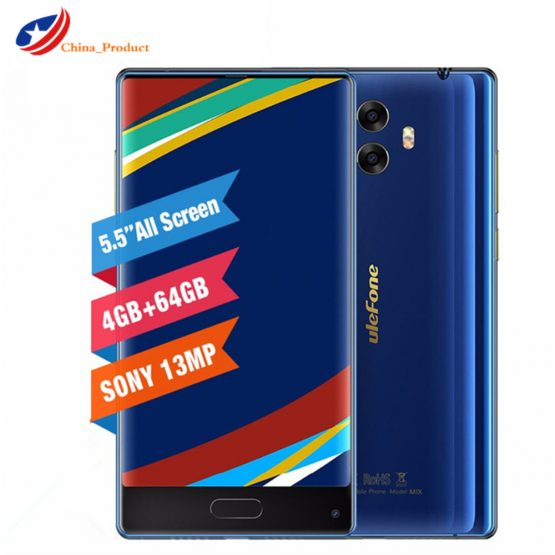 """In Stock! Ulefone Mix Octa Core 4GB+64GB Smartphone MTK6750T 5.5""""HD 13MP Dual Real Cam Android 7.0 Fingerprint Mobile Cell Phone"""