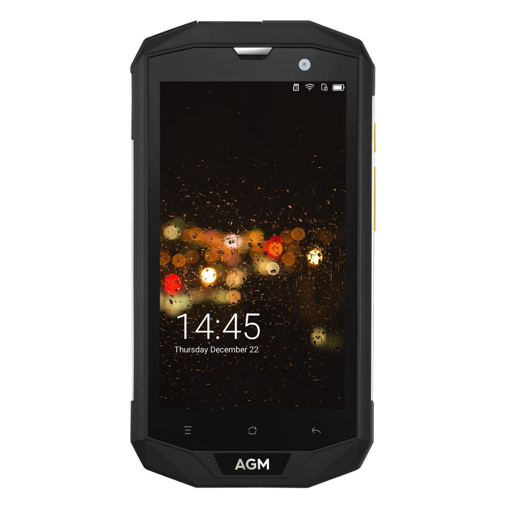 """OFFICIAL AGM A8 5""""3G+32G FDD-LTE Android 7.1 Mobile Phone 2SIM IP68 Rugged Phone Quad Core 13.0MP 4050mAh NEW NFC OTG Smartphone"""