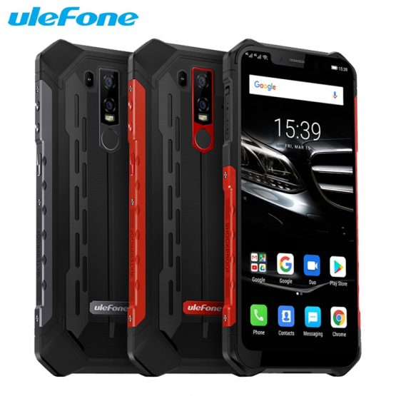 Ulefone Armor 6E Mobile Phone 6.2inch 4GB RAM 64GB ROM Helio P70 Octa Core Android 9.0 Dual SIM Wireless Charging Smartphone