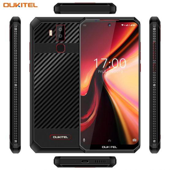 """OUKITEL K13 Pro Android 9.0 Mobile Phone 6.41"""" 19.5:9 Screen MT6762 4G RAM 64G ROM 5V/6A 11000mAh OTA NFC Fingerprint Smartphone"""