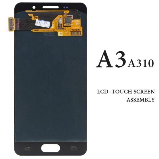 Smartphone Replacement Spare Parts Touch Screen For Samsung A3 2016 LCD Display AMOLED Black White A3 A310 A310F Panel