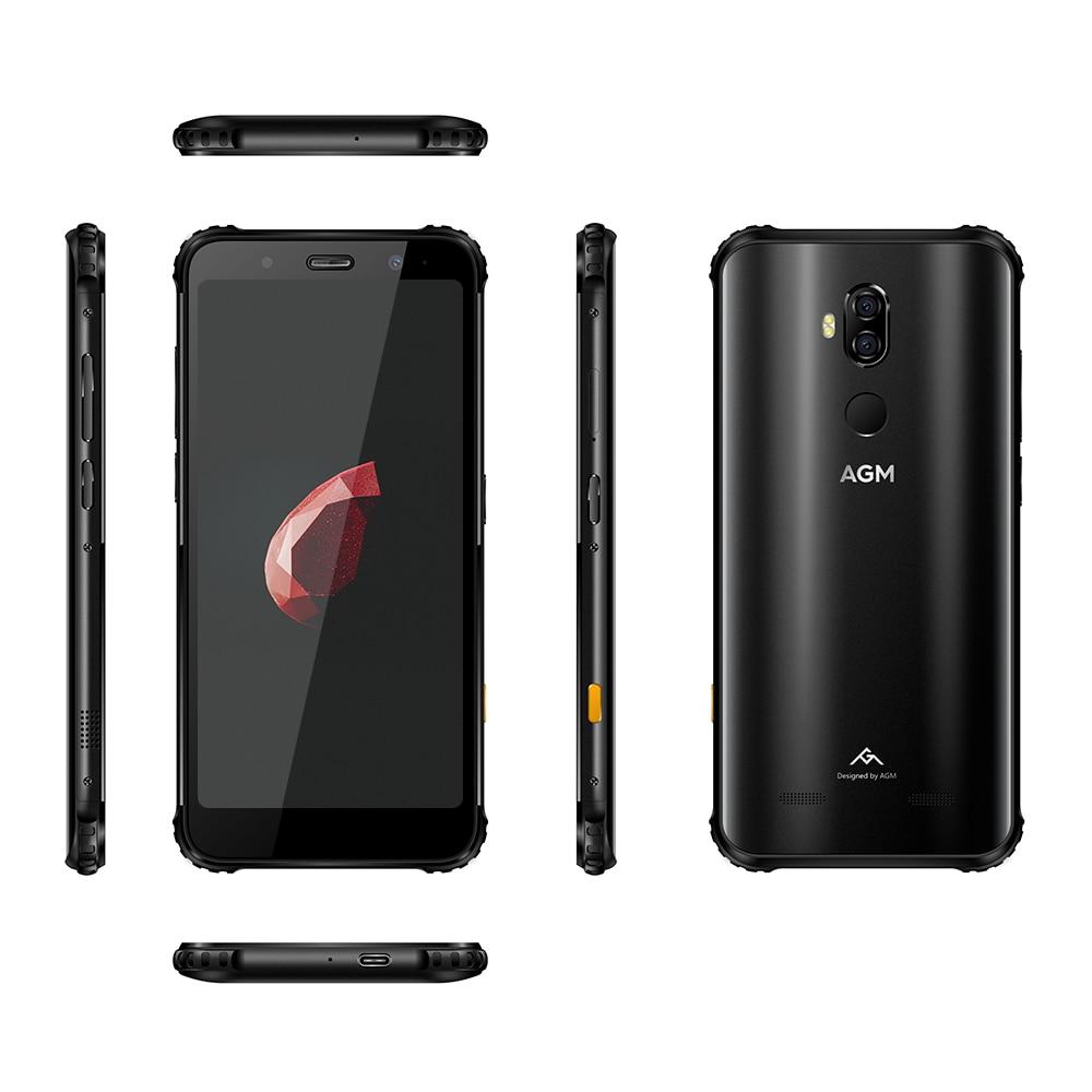 AGM X3 MIL-STD-810G Rugged Waterproof Smartphone 8GB 256GB SDM845 Octa 5.99'' 24MP Camera Dual BOX Speaker Face ID QC NFC Phone