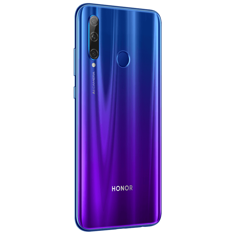 Global Version Honor 20 Lite 4GB 128GB Smartphone 6.21 Inch Screen 32MP Front Camera Fingerprint Recognition Face ID Google Play