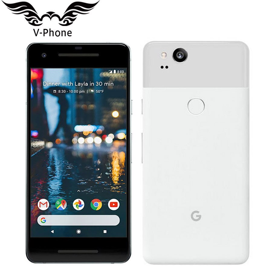Brand NEW 5.0'' Google Pixel 2 US Version 4GB 128GB Smartphone Snapdragon 835 Octa Core Fingerprint 4G Android Mobile phone