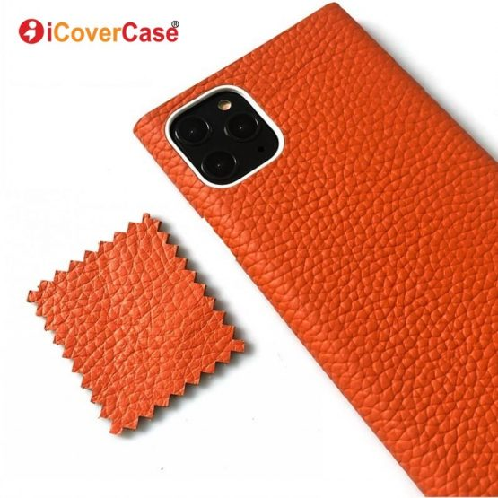 for iPhone 11 Genuine Leather Cases 11 Pro Max Luxury Case for iPhone SE 2020 SE 2 6 6s 7 8 Plus XR XS Max X Back Cover Silicon