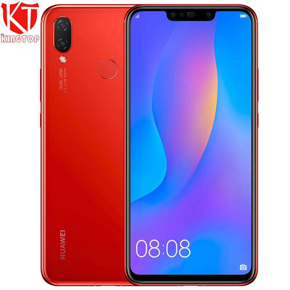 Global Original Huawei nova 3i nova3i Mobile Phone 4G RAM 128G ROM 6.3 inch Kirin710 Octa Core 24MP+16MP Android 8.1 Smartphone
