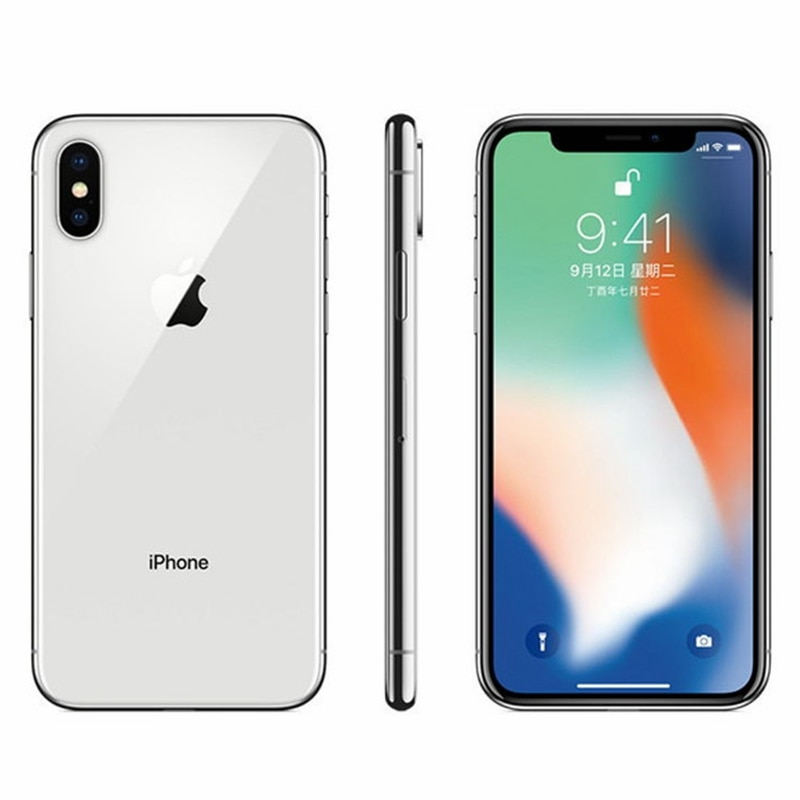 "Unlocked Phone X Face ID 5.8"" 3GB RAM 64GB/256GB ROM High Quality display IphoneX Smartphone Mobile Cell Phone 4G LTE"
