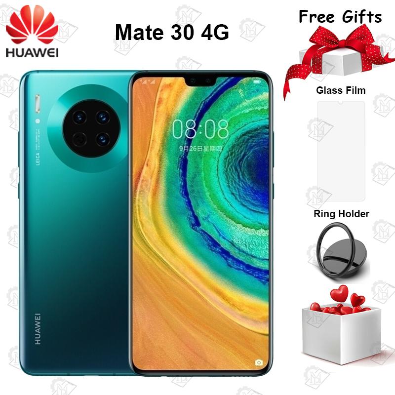 Original Huawei Mate 30 4G Mobile Phone 6.62 inch 6GB RAM 128GB ROM Kirin 990 Android 10 40MP Triple Rear Cameras Smartphone