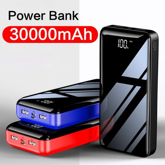 2020 New Power bank 30000 mAh Bank Portable Charging Poverbank Mobile Phone External Battery Charger Powerbank for iPhone Xiaomi