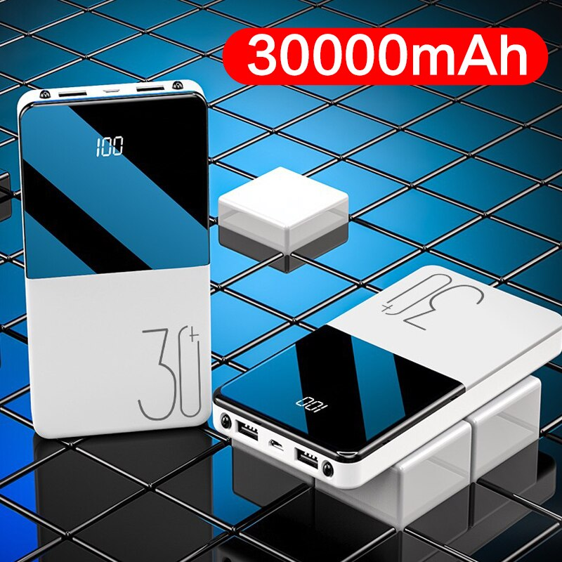 2020 Newest Power Bank 30000mAh Portable Charging Poverbank Mobile Phone External Battery Charger Powerbank 30000 mAh for Xiaomi