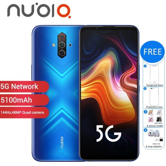 "New Original ZTE Nubia Play 5G Mobile Phone 6.65"" 8GB 128GB 5100mAh 30W Snapdragon 765G 48MP Quad Camera NFC 5G Smartphone"