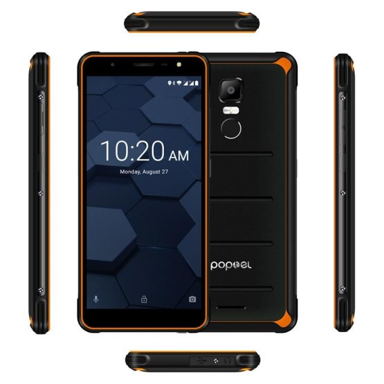 2020 lowest pricerugged smartphone Poptel P10 5.5 inch octa core 4GB+64GB NFC cost-effective unlocked phones big falsh deals