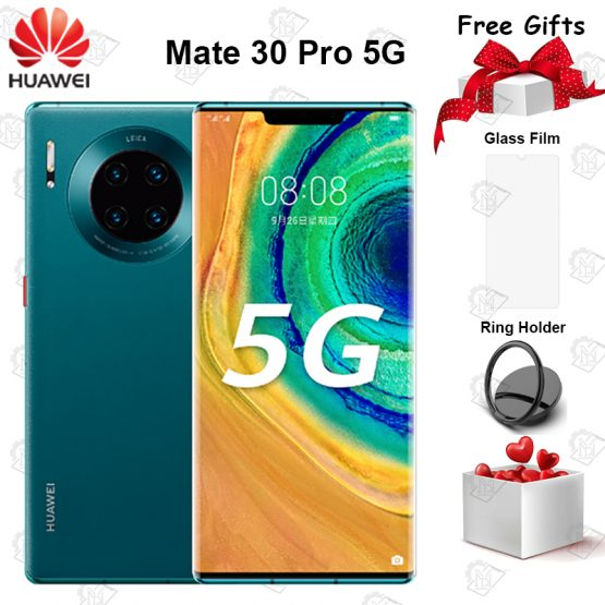 """Original Huawei Mate 30 Pro 5G Mobile Phone 6.53"""" 8G+128G Kirin 990 Android 10 Triple Cameras 40MP Front Camera 32MP Smartphone"""