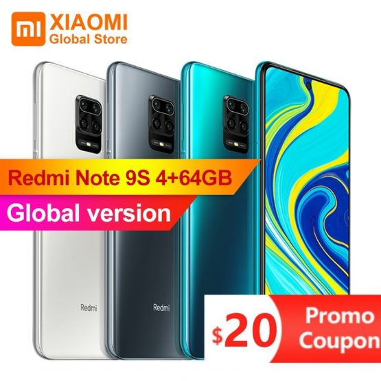 Global Version Xiaomi Redmi Note 9S 4GB RAM 64GB ROM Mobile Phone Octa-core Snapdragon 720G 5020mAh 48MP Cam Smartphone