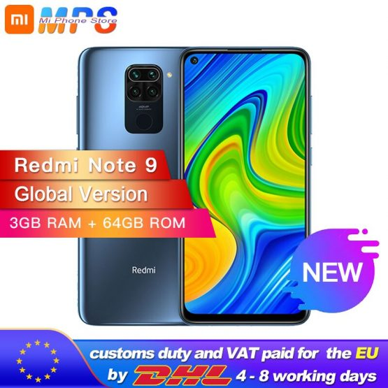 "Global Version Xiaomi Redmi Note 9 64GB 3GB Smartphone MTK Helio G85 Octa Core 48MP Quad Rear Camera 6.53"" DotDisplay 5020mAh"