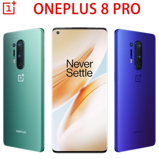 Oneplus 8 Pro 5G MobilePhone 6.78 inch Snapdragon 865 Octa Core Android10 Warp Charge NFC Smartphone Global Firmware