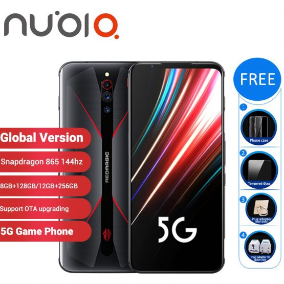 "Global Version Nubia Red Magic 5G Gaming SmartPhone 12GB 256GB/8GB 128GB 6.65"" Snapdragon 865 NFC Redmagic 5G Game Mobible Phone"