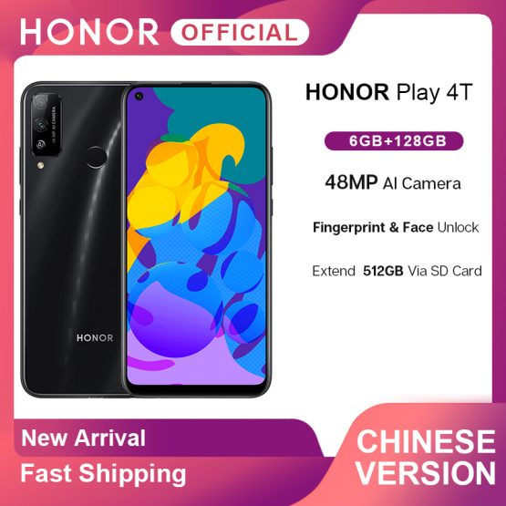 New Arrival Honor Play 4T 4 T Play4T Smartphone 6GB 128GB 6.39'' 48MP AI Camera Fingerprint Face ID 4000mAh Mobile Phones OTA