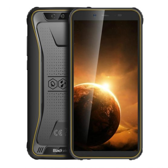 "Blackview BV5500 Plus IP68 Rugged Waterproof Smartphone 3GB+32GB 5.5"" 18:9 Screen 4400mAh MT6739 Android 10 NFC 4G Mobile Phone"
