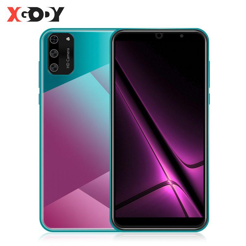 "XGODY S20 Mini Smartphone Android 9.0 5.5"" 18:9 Full Screen 1GB 4GB MT6580 Quad Core 5MP Camera 2500mAh GPS WiFi 3G Mobile Phone"