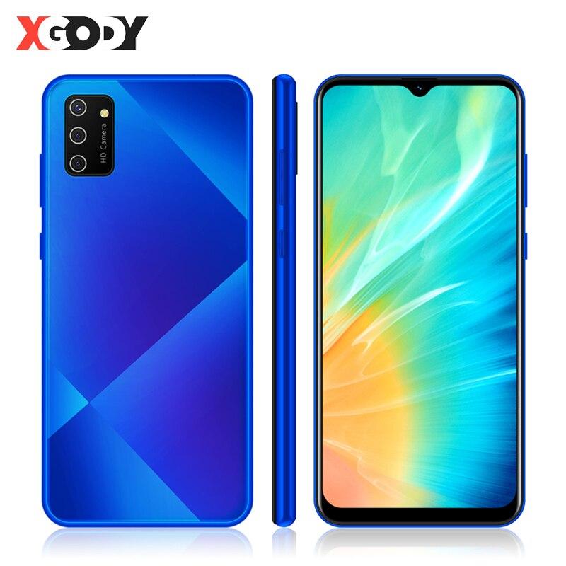 "XGODY S20 3G Smartphone Android 9.0 6.53"" 19:9 Waterdrop Mobile Phone 1GB+4GB MTK6580 Quad Core Dual SIM WiFi 5MP Camera 3000mAh"