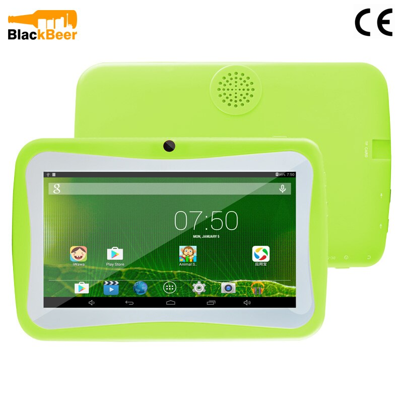 """UNIWA 7"""" Children Tablet Mobile Phone 1G 8G ROM Allwinner A33 QuadCore Smartphone Android 5.1 Educational Kids Tablet PC 2500mAh"""