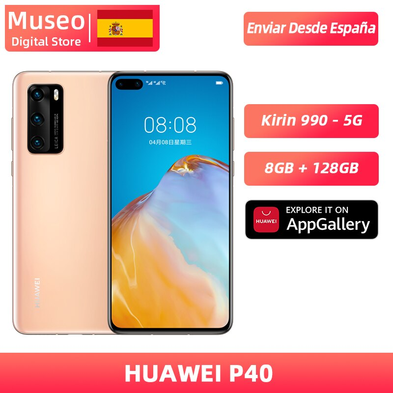 Global version Huawei P40 5G Smartphone Kirin 990 8GB 128GB 50MP Camera threefold 6.1 ''Android 10 22.5W SuperCharge NFC
