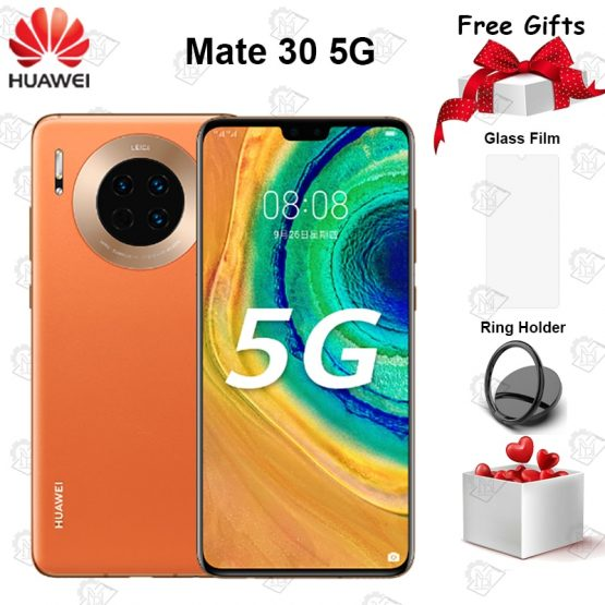 "New Original Huawei Mate 30 5G Mobile Phone 6.62"" 6GB RAM 128GB ROM Kirin 990 Android 10 40MP Triple Rear Cameras Smartphone"
